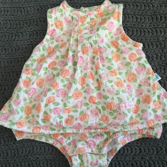 Little Me Other - Little Me onesie dress. Floral. 6 months.